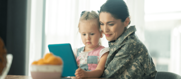 process of visitation rights for military child custody