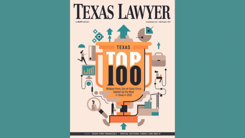 Texas Lawyer Top 100 Article - Sisemore